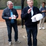 """50 Jahre im TCM - Josef Veltrup bei seiner """"Dankes-Rede"""""""